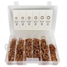 Sortido anilhas cobre 525pçs