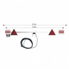 Barra de sinalização de led p/reboque de 1,4 a 2,1mt cabo 6mt