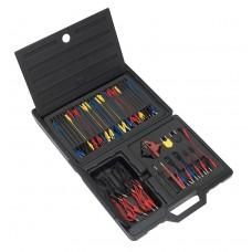 Jogo de cabos e acessórios p/comprovar circuitos electricos