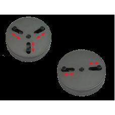 Jogo adaptadores ajustavéis p/retrator embolos de travões 2 e 3 pins